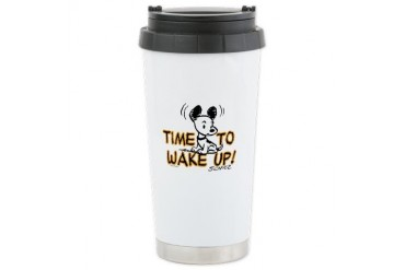 Time to Wake Up Ceramic Travel Mug