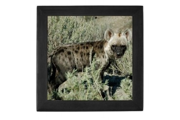 Hyena Animals / wildlife Keepsake Box by CafePress