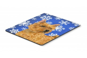 Norwich Terrier Winter Snowflakes Holiday Mouse Pad, Hot Pad or Trivet