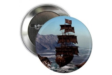 Pirate Ship 2.25quot; Button Pirate 2.25 Button by CafePress
