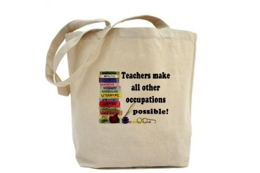 Teacher Occupations Book Bag Occupations Tote Bag by CafePress