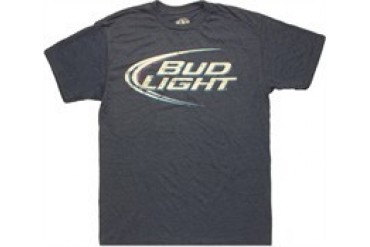 Bud Light Logo Heather Navy T-Shirt Sheer