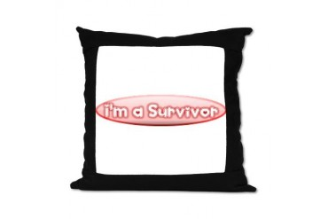 Breast Cancer Survivor Breast cancer Suede Pillow by CafePress