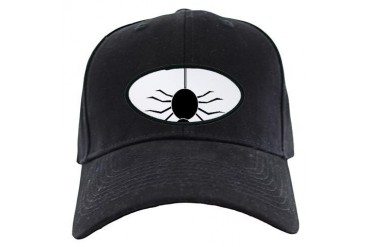 Halloween Spider hanging by a Web Halloween Black Cap by CafePress
