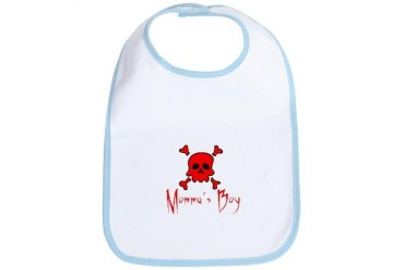 Momma's Boy Baby Skull Bib by CafePress