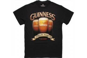 Guinness Foamy Glass Trio T-Shirt