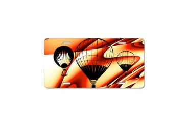 Hot Air Balloon Cool Aluminum License Plate by CafePress
