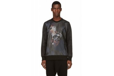 D.gnak By Kang.d Black Matte Graphic Sweatshirt
