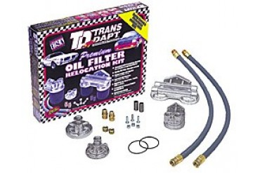 Trans-Dapt Dual Oil Filter Relocation Kit 1222 Remote Oil Filter Kits