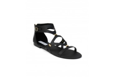 Steve Madden 'Comma' Cut Out Gladiator Sandals Black, 7
