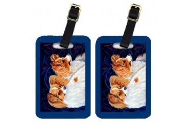 Pair of 2 Papillon Luggage Tags