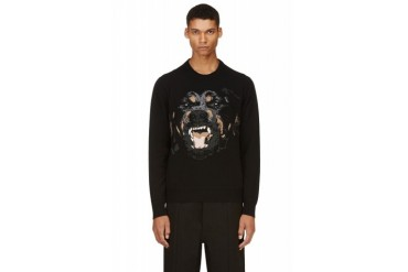 Givenchy Black Knit Rottweiler Sweater