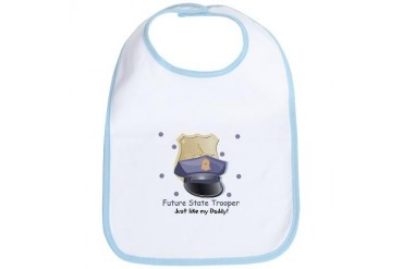 Future State Trooper Like Daddy Baby Bib