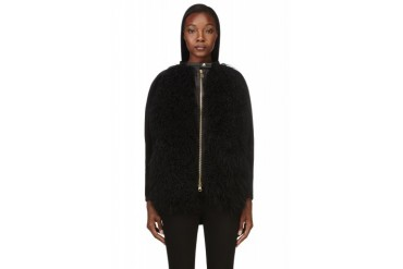 Denis Gagnon Black Llama Shearling Jacket