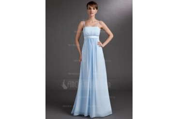 Empire Floor-Length Chiffon Charmeuse Chiffon Charmeuse Maternity Bridesmaid Dress With Ruffle (045004393)