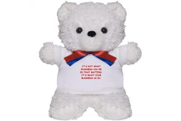 BUSINESS Funny Teddy Bear by CafePress