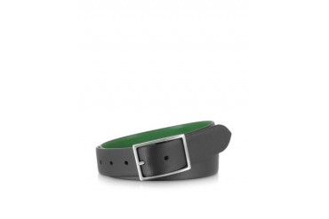 Black and Green Reversible Belt