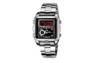 Weide WEIDE DUAL TIME LED wh1001 silver black SPORT DIGITAL ANALOG WATCH