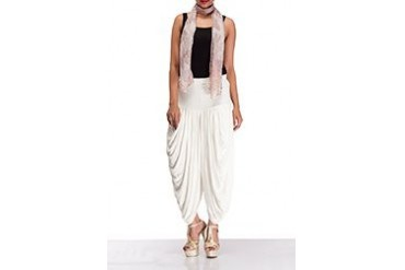 Attractive White Lycra Palazzo Pants