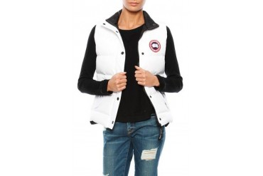 Freestyle Vest in White - designed by Canada Goose