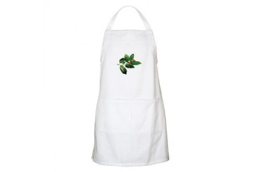 Sprig of Holly Christmas Apron by CafePress