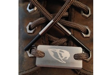 Laces with Ferro Rod Tips and Serrated Steel Striker Tools