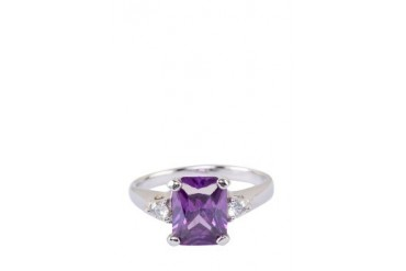 Purple Cubic Zirconia Pendant Ring