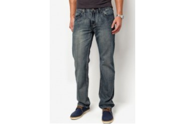 IZO Jeans Visible Lining Straight Cut Jeans