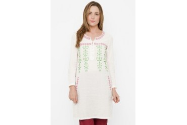 Chanira Long Blouse With Embroiderry
