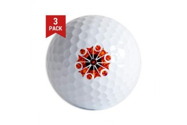 Retro Starburst Flame Cool Golf Balls by CafePress
