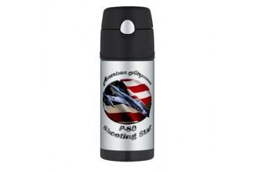 P-80 Shooting Star Hobbies Thermos Bottle 12oz by CafePress