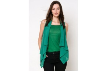 Harriet Draped Collar Blouse with Inner Tank Top