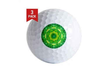 Spring Art Mandala Art Golf Balls by CafePress