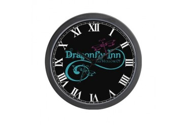 Dragonfly Inn Wall Clock