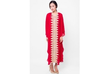 Chanira Long Kaftan With Lace