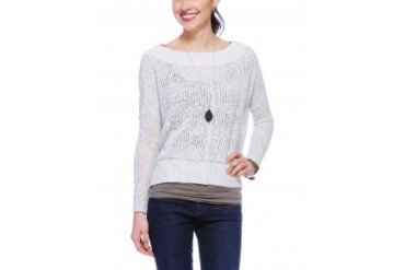 Free People 'These Days' Fine Gauge Sweater Ivory, S