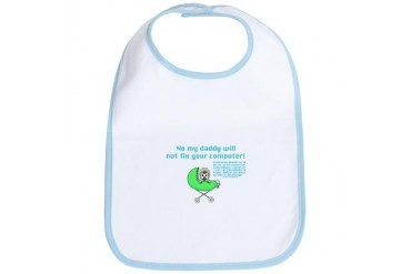 Dad Techie w/ Binary - GN2 - Daddy Bib by CafePress
