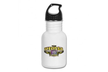 Team Melissa Celebrity Kid's Water Bottle by CafePress