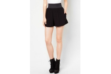 Material Girl Soft Front Zip Shorts