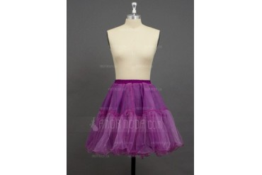 Women/Girls Organza/Polyester Short-length 2 Tiers Petticoats (037033992)