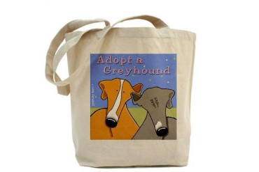 Adopt a Greyhound Dog Tote Bag by CafePress