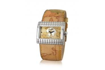 1a Prima Classe - Ladies' Geo Rectangular Dial and Strap Watch