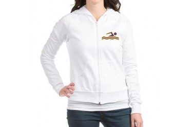 Purple and Gold Swimming Sports Jr. Hoodie by CafePress