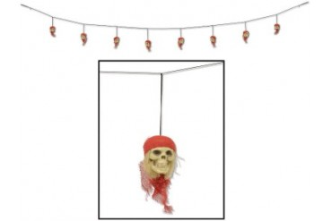 Ddi Pirate Skull Garland (pack Of 24)
