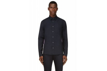 Kenzo Navy And Purple Trimmed Shirt