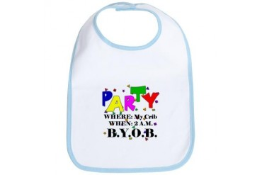 Party Time Funny Bib by CafePress