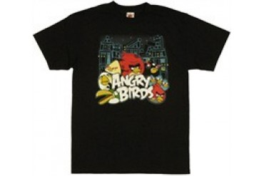 Angry Birds Group Conflict Scene T-Shirt
