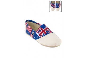 Mish Mash Flags Slip-ons