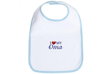 I Love My Oma Flag Bib by CafePress