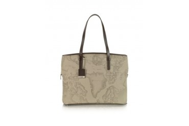 1a Prima Classe - Geo Printed Large Business ''New Classic'' Shoulder Bag